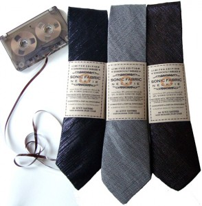 Playable Neckties Made from Elderly Audio Strip