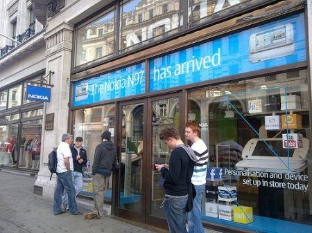 Nokia shuttering London flagship stock