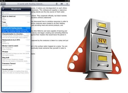 Simplenote as well as Notational Velocity Bring Document Syncing to iPad