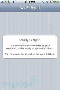 Wi-Fi Sync right away concordant with Windows as well as iPad