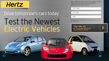 Hertz plug-in let module to exaggerate 1,000 vehicles, together with a Tesla Roadster