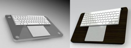 MacDec Tea-Tray Holds Keyboard as well as Trackpad