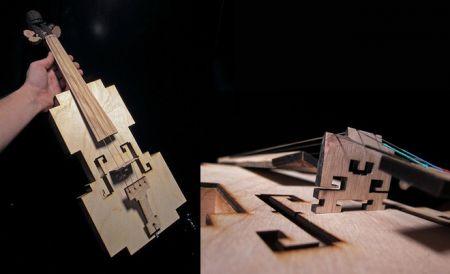 The Amazing Wooden B-Bit Violin